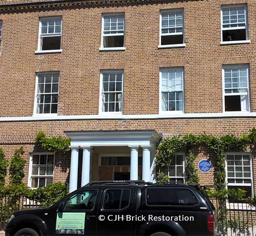 Listed building Hogarth House residence of Virginia and Leonard Woolf brick restoration by CJH Brick Restoration